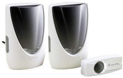 Byron BY236FE draadloze deurbel met twee ontvangers