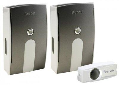 Byron BY535E draadloze deurbel met twee ontvangers