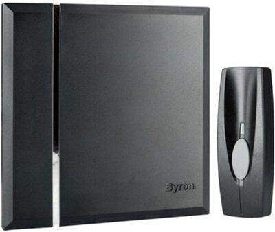 Byron BY401B Wall draadloze deurbel zwart