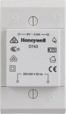 Honeywell D743 deurbeltransformator 8V 0.5A - opbouw