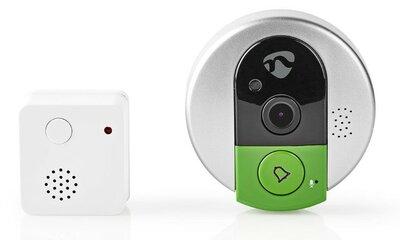 Nedis DOORPW10CBK Wi-Fi 720p deurbel met camera + ontvanger