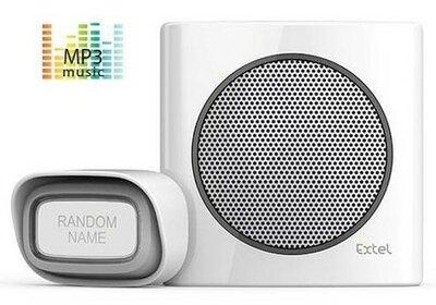 Extel diBi MP3 white draadloze deurbel