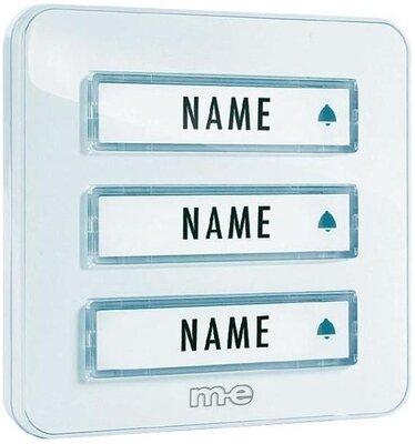 m-e KTA3WW deurdrukker wit voor drie etages