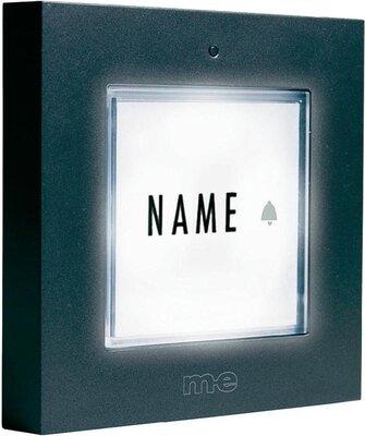 m-e KTB1A deurdrukker antraciet met licht
