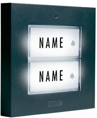 m-e KTB2A deurdrukker antraciet met licht voor twee etages