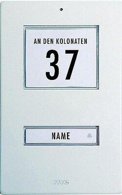 m-e KT1AW deurdrukker wit met licht