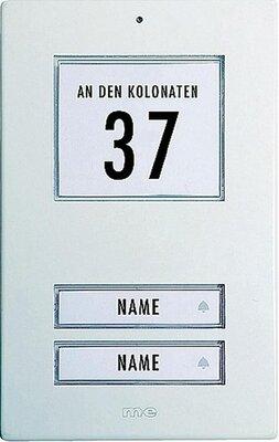 m-e KT2AW deurdrukker wit met licht voor twee etages