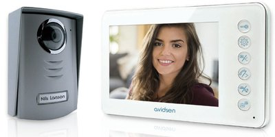 Avidsen Ylva 2+ wit intercom met camera