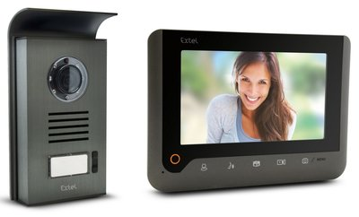 Extel Nova zwart intercom met camera