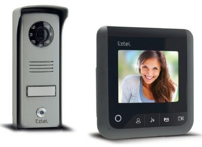 Extel Look zwart intercom met camera