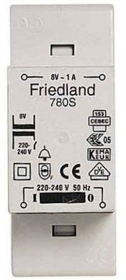 Friedland D780S deurbeltransformator 8V 1A