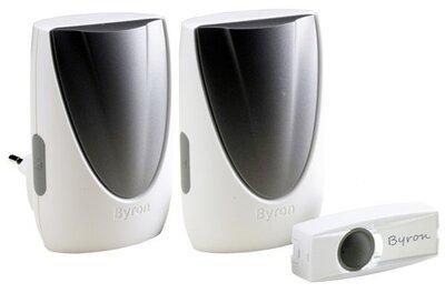 Byron BY236E draadloze deurbel met twee ontvangers