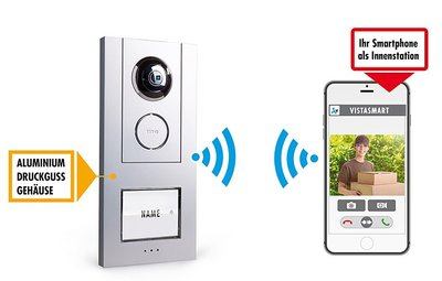 m-e VS-10 Aluminium Wi-Fi deurbel met camera