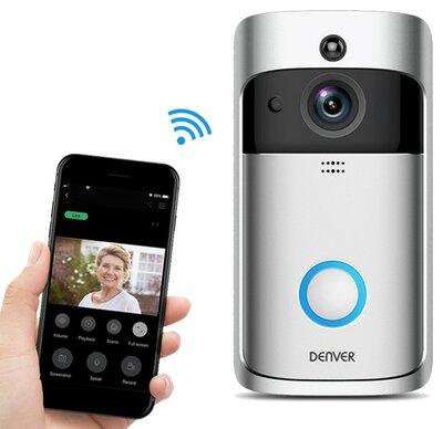 Denver VDB-110 Wi-Fi deurbel met camera + ontvanger