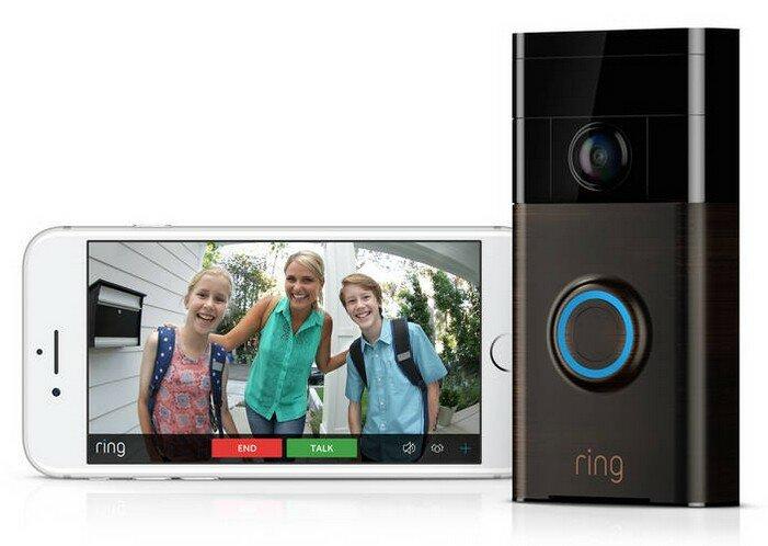 RING bronze Wi-Fi deurbel met camera