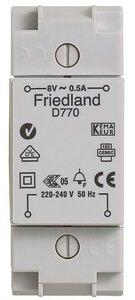 Friedland D770 deurbeltransformator 8V 0.5A