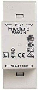 Friedland E3554N deurbeltransformator 8V 2A