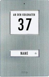 m-e KT1EG deurdrukker RVS met licht